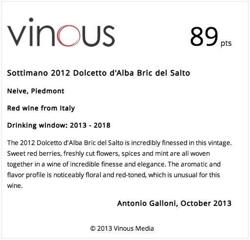 2013-Vinous_Sottimano-2012-Dolcetto-d'Alba-Bric-del-Salto