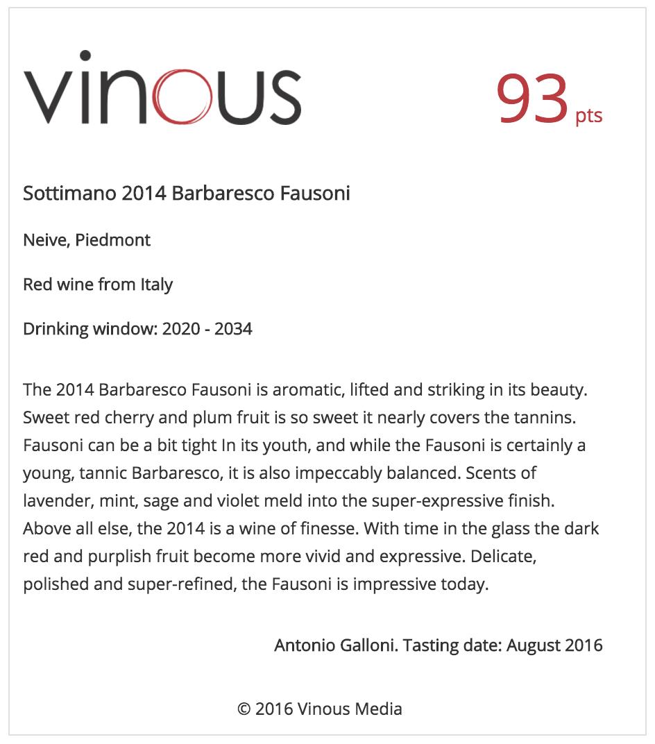 Sottimano-2014-Barbaresco-Fausoni
